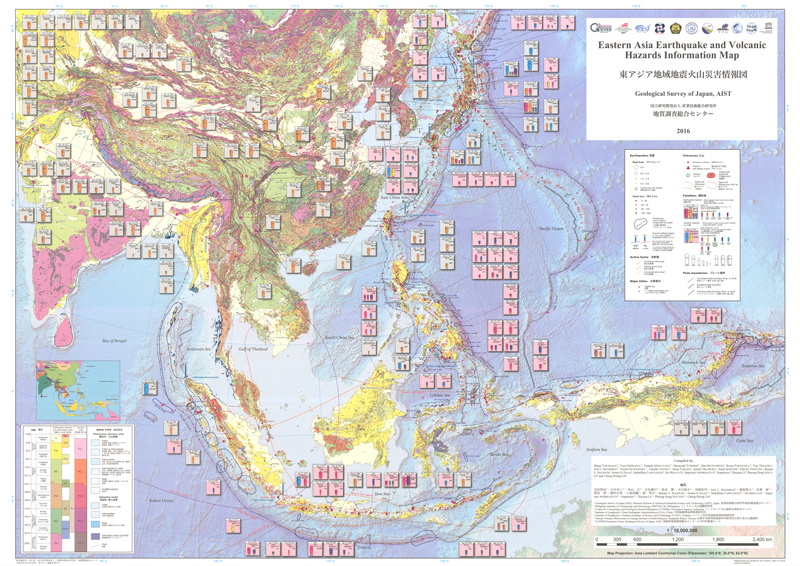 Map Of Asia And Japan.Catalogue Of Geological Maps Geological Survey Of Japan Aist