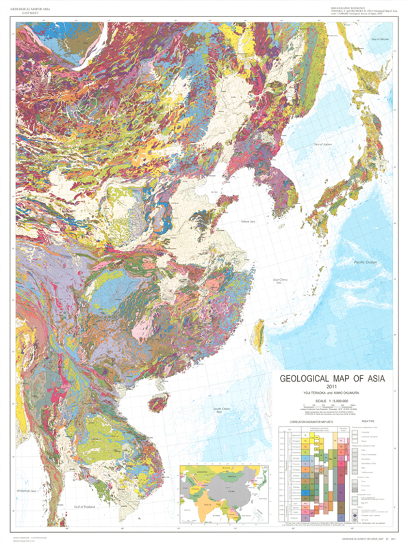 Catalogue Of Geological MapsGeological Survey Of Japan AIST - Japan map of asia