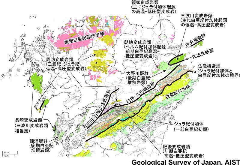 中央構造線に関する現在の知見 九州には中央構造線はない 災害と