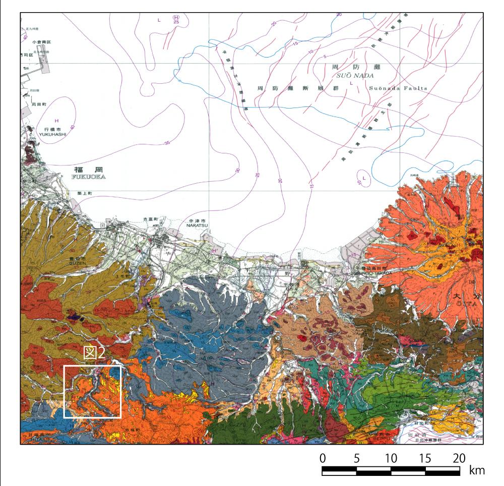 図1 耶馬溪地域の位置[図2の枠]
