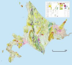 Seamless Digital Geologic Map of Japan, Hokkaido.