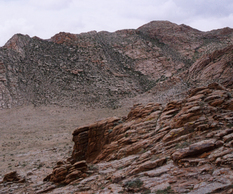 Granitic outcrop in Mongolia.